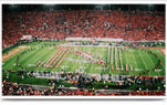 The Nebraska marching band in Memorial Stadium